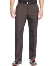 Greg Norman Houndstooth Plaid Performance Pants Deep Brown Mens Size 36x30 New