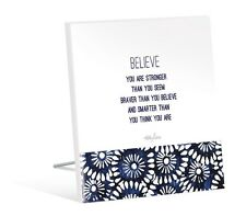Kelly Lane Inspirational BELIEVE Plaque | Free Standing | Gift Idea