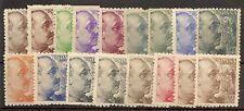 Edifil  919/935*  General Franco  1940/45   Serie completa    NL869
