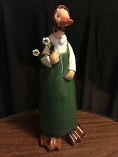 Lg. Duck Statue/figurine pottery