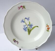 Meissen Porzellan Teller, Blumen, handbemalt, um 1900 AL924