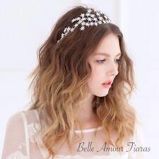 Tiara side detailed sparkling silver stars headband wedding hair accessory.SALE