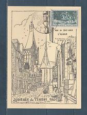 carte  1er jour  journée du timbre   61  l' Aigle   1964