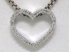 Diamant Anhänger Weißgold Herz Anhänger 30 lupenreine Diamanten