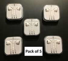 5 Pack New EarBuds Earphones Headphones FOR apple iphone 4 5 5S 6 6S + Plus