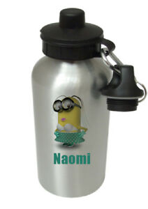 Minion - Lady - Personalised Kids/Drinks/Sports Childrens Water Bottle