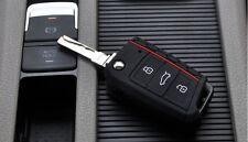 Silikon Schlüssel Hülle für VW Golf 7 VII Klappschlüssel Key Cover Schwarz :47
