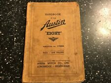 Austin EIGHT Original 1939 Drivers Handbook Manual Book Ref: 1756B