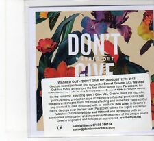 (FB862) Washed Out, Don't Give Up - 2013 DJ CD