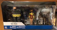 BATMAN ANIMATED - BATMAN ROBIN MUTANT LEADERaction figure 3 PACK new