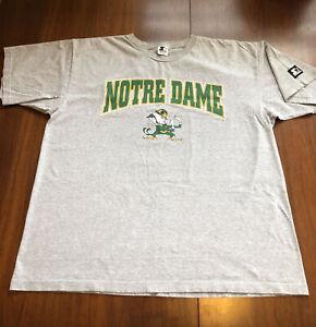 Vtg 90s Starter T Shirt Notre Dame Fighting Irish Men's XL/2XL Made In USA