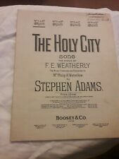 The Holy City song Weatherly & Adams sheet music (Boosey & Co)