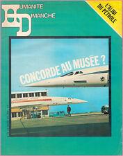 ▬►L'HUMANITÉ DIMANCHE N° 143 du 2 au 8 Janvier 1974 LE CONCORDE