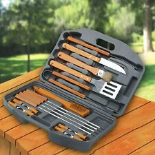 Bbq Set 18 Piece Stainless Steel Barbecue Grill Outdoor Cooking Utensils Tools