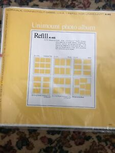 CR Gibson Unimount Photo Album Refill K45 2 Packs (10 Sheets Total) No Glue USA