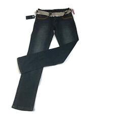 OTB One Tuff Babe Womens Embellished Skinny Jeans Size 5 / 6 Dark Wash NWT