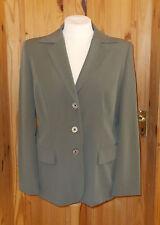 BETTY BARCLAY olive green khaki single breasted suit jacket coat 20 46-48
