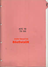 Honda ATC70 (1973-1983) Genuine Factory Shop Repair Manual Book ATC 70 ATV CC98