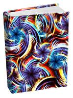 Whirlwind Stretch Fabric Book Sox Cover Jumbo NIP Multi Swirl Print 708951040778