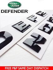 Defender Noir Brillant 3D capot lettrage Land Rover 90 110 lettres badge emblème
