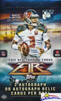 2015 Topps FIRE Football HUGE Factory Sealed HOBBY Box-2 AUTOGRAPHS!