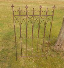 2er Set Fiche zaunelement treillis palissade style rustique antique
