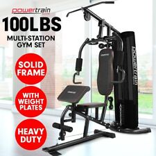 Powertrain Multi Station Home Gym Exercise Equipment Bench Press Fitness Weights