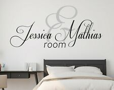 Custom Name Room Wall Decal Decor Sticker Vinyl Lettering COLORS MS1192