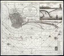 Antique Map-STOCK MARKET-ENKHUIZEN-ZUIDERZEE-NETHERLANDS-John Law-1720