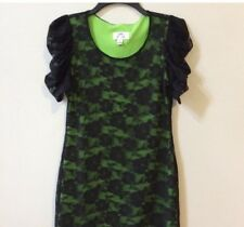 Vintage Dress Green And Black 90's Style. Size Small Lace Party Dress