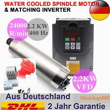 CNC 2.2KW Spindle Motor + 2200W 220V VFD Inverter + ER20 Collet + Water-pump DHL