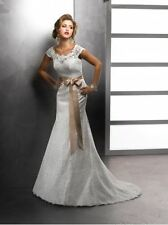 Mermaid Lace Wedding Dress Amara Rose by Maggie Sottero Ivory 10 New with tags