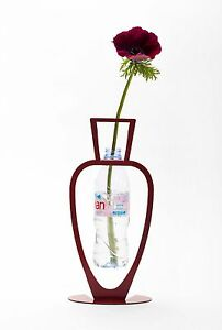 ARTORI Design Primavera Flower Vase Recycling Eco Friendly Metal Red Gift