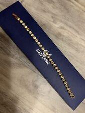 Swarovski Gold Tennis Bracelet