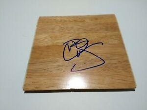 Carlos Boozer NBA Signed 6x6 Floor Board Cavaliers Jazz Bulls Lakers