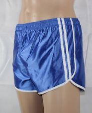Französische Sprinter Sporthose Glanz Nylon Boxer Shorts blau Gr.S D4 NEU