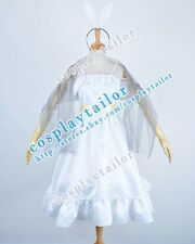 Vocaloid 2 Synchronicity Kagamine Rin Cosplay Costume White Dress Great Quality