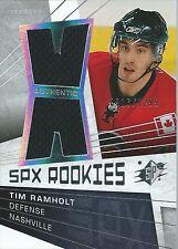 (HCW) 2008-09 SPX TIM RAMHOLT $12 Jersey Rookie 917/1299 Predators 00078