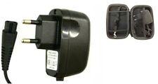 Reino Unido Cargador Cable de alimentación de 2 Pines Para Afeitadora Philips RQ1250 + Estuche Gratis