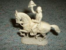 Elastolin 70mm Unpainted AWI Mounted George Washington   white plastic