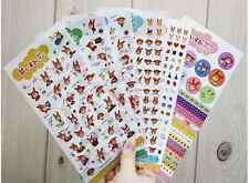 #36 Cute red rabbit girl kids cartoon pvc stickers notebook diary deco 6sheets