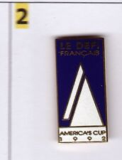 Pinsfolies *** Pin's Badge Bateau Sailing Boat Le defi Francais Americas Cup 92