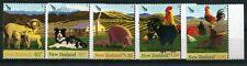 NEW ZEALAND 2005 FARMYARD ANIMALS SET 5 UNMOUNTED MINT