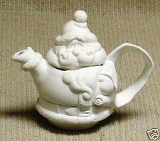 Ceramic Bisque Tea Pot Santa Duncan Mold 1809 U-Paint Ready To Paint