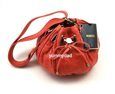 MIMCO SMALL COCOON LEATHER BAG IN BERRY CRUSH BNWT RRP$349