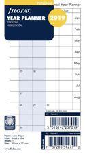 Filofax Personal 2019 Horizontal Year Planner Insert Refill Diary 19-68401