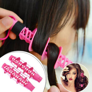 Hair Rollers Spiral Curling DIY Tool Hairdressing No Clip Styling Curls Roller*4