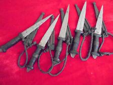 LOT OF 5 OLD VINTAGE TUAREG/NORTH AFRICA HUNTING KNIFE LEADER SHEATH DAGGER