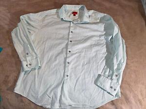 ALFANI Mint Green Slim Fit Dress Shirt XL 17 17-1/2 34/35
