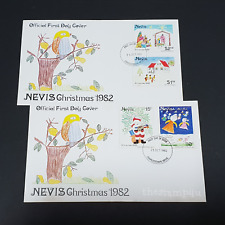 Nevis 1982 Christmas Stamp Set of 3 FDC